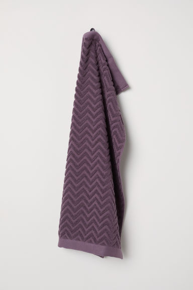 Jacquard-patterned hand towel - Dark plum purple - Home All | H&M CN