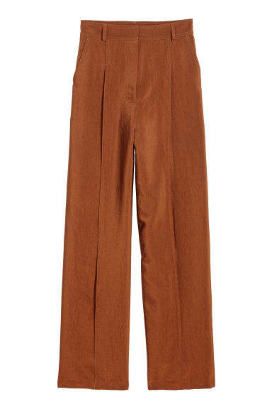 Wide trousers - Rust - Ladies | H&M CN