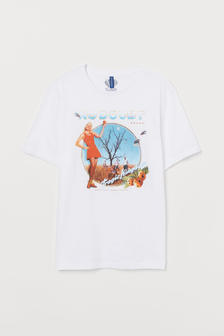 Printed T-shirt - White/No Doubt -  | H&M CN