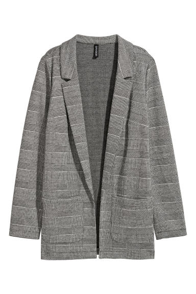 Jersey jacket - Grey/Checked - Ladies | H&M CN