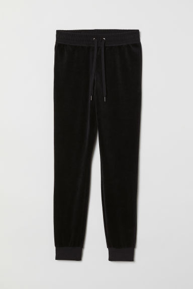 Velours joggers - Zwart - DAMES | H&M BE