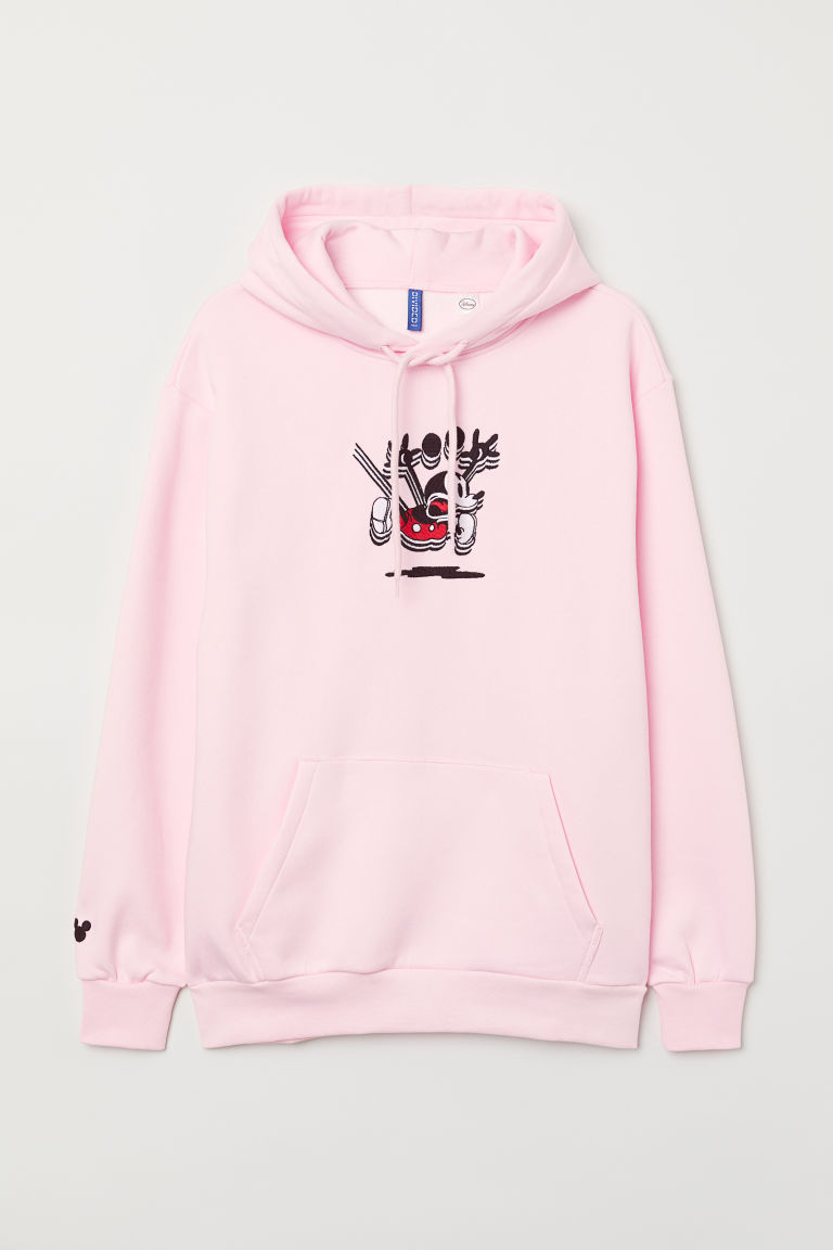 Printed hooded top - Pink/Mickey Mouse - Men | H&M IN