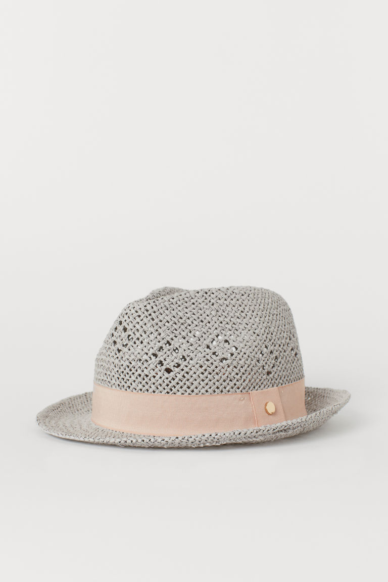 Straw hat - Light grey - Ladies | H&M