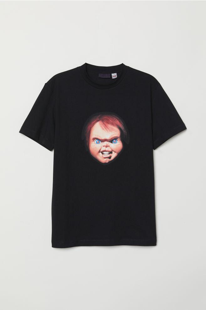 b032cec19 T-shirt with Printed Design - Black Chucky - Men