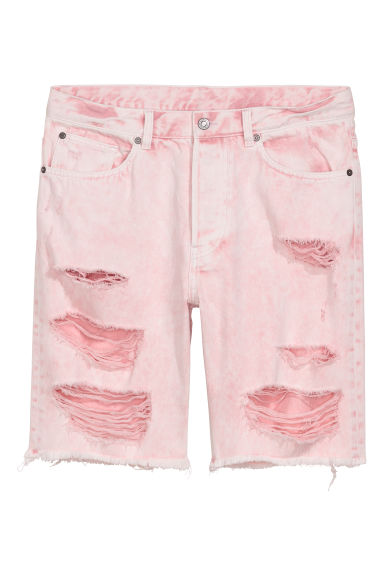 Denim short Trashed - Lichtroze -  | H&M BE