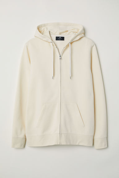 Hooded jacket Regular fit - Cream - Men | H&M