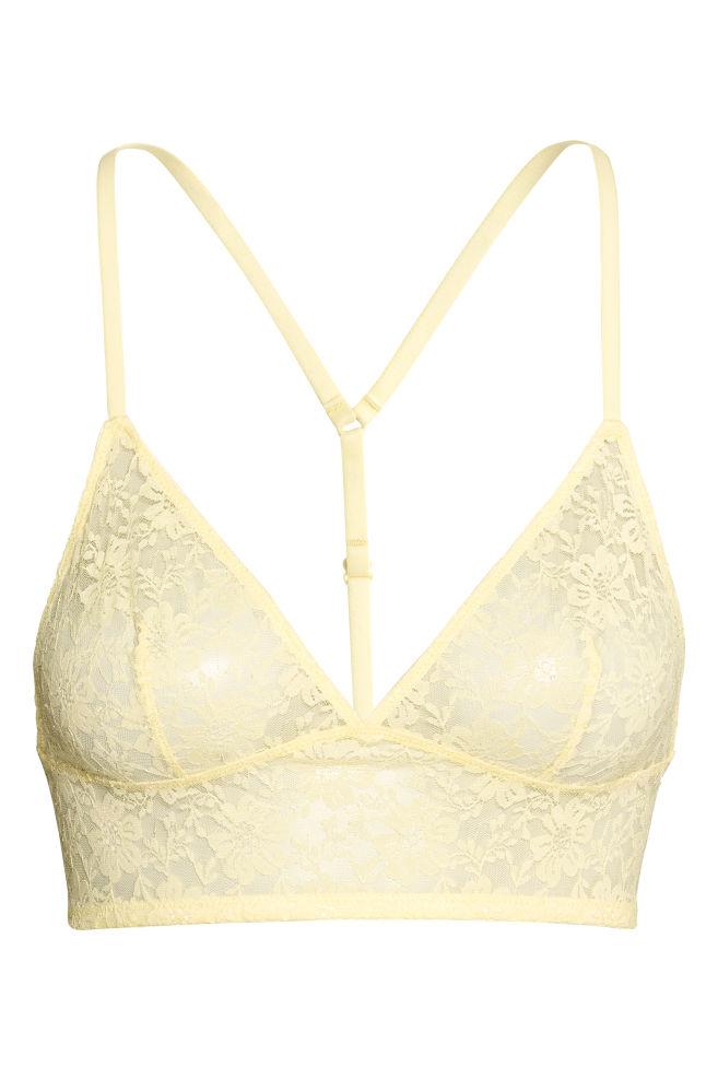 9fa3ebbb268c8 Lace bralette - Yellow - Ladies