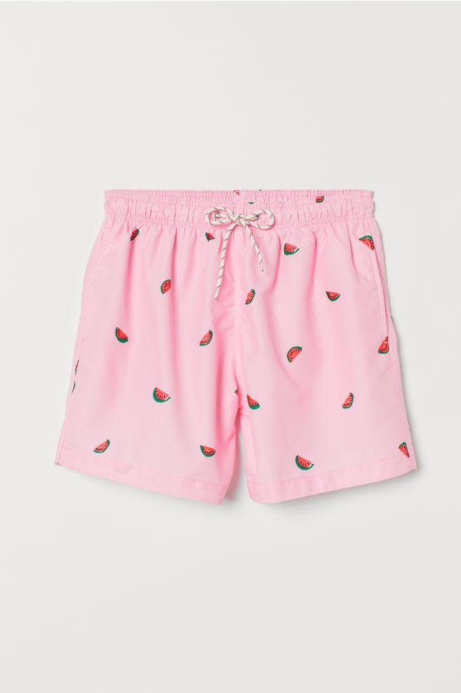 d9165b3ccf Printed swim shorts - Pink/Watermelons - Men | H&M ...