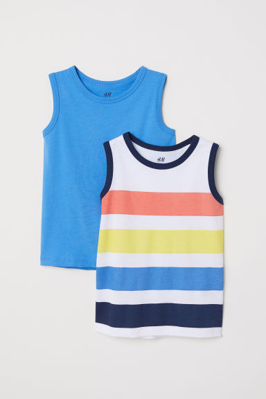 2-pack tops - Sky blue/Striped -  | H&M