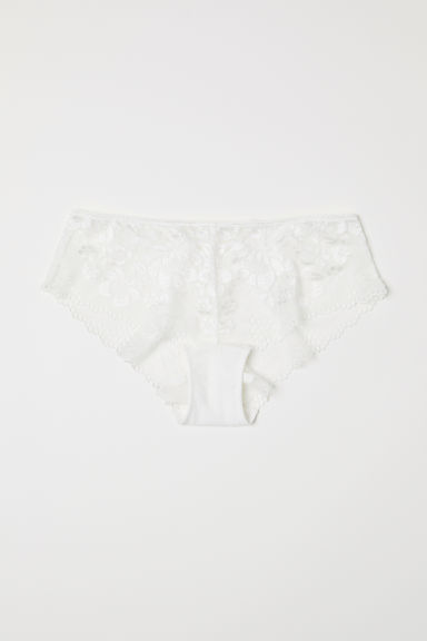 Lace hipster briefs - White - Ladies | H&M CN