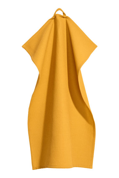 Asciugapiatti a nido d'ape - Giallo scuro - HOME | H&M IT