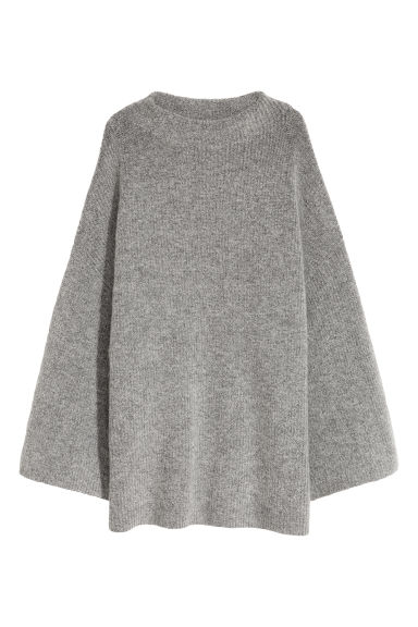 Mohair-blend jumper - Grey - Ladies | H&M CN