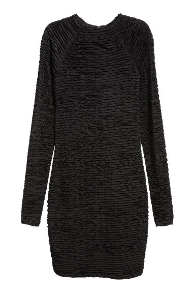 Gathered dress - Black - Ladies | H&M CN