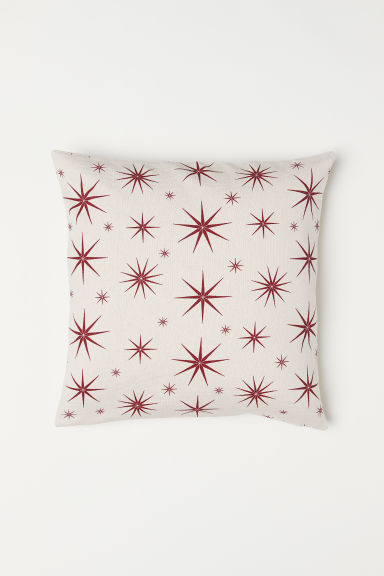 Cotton cushion cover - White/Star pattern -  | H&M CN