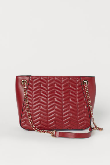 Quilted handbag - Dark red - Ladies | H&M CN