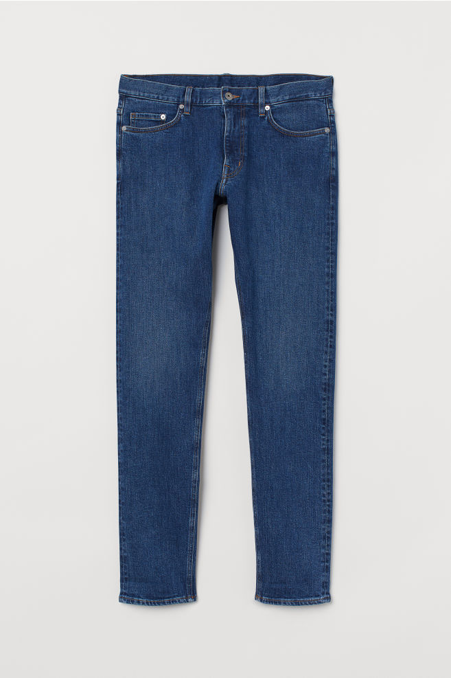 63ec260d72ba0 Slim Selvedge Jeans - Bleu denim foncé - HOMME