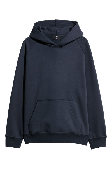 Hooded top Loose fit - Dark blue -  | H&M CN