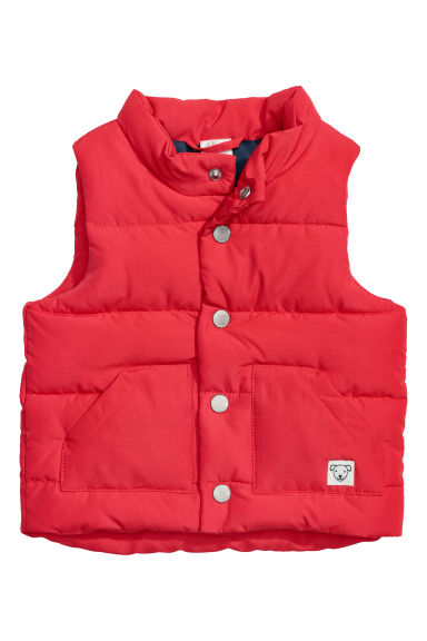 Padded gilet - Red - Kids | H&M CN