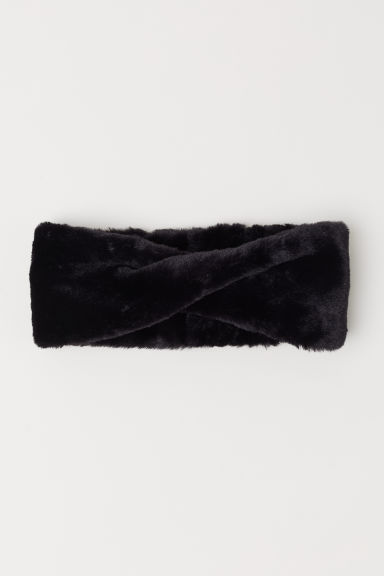 Faux fur headband - Black - Ladies | H&M