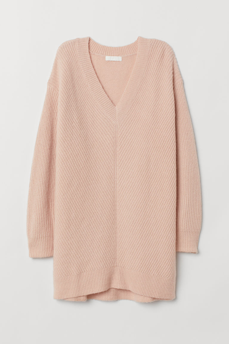 Knitted jumper - Light pink - Ladies | H&M CN