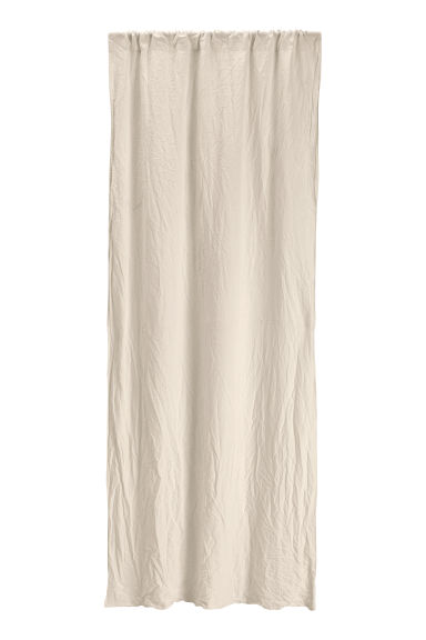 Washed linen curtain length - Linen beige -  | H&M GB