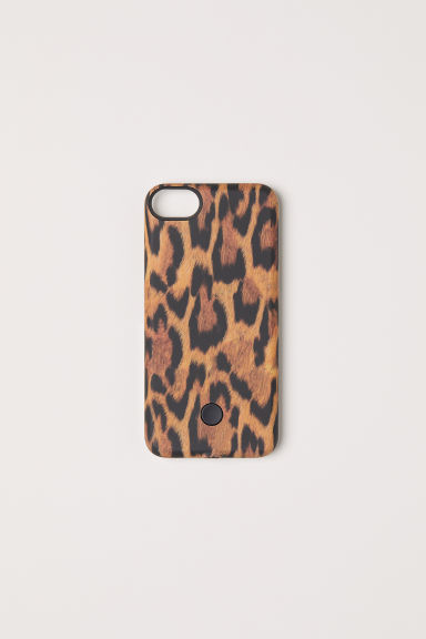 Cover iPhone 6/7 per selfie - Nero/leopardato - DONNA | H&M IT
