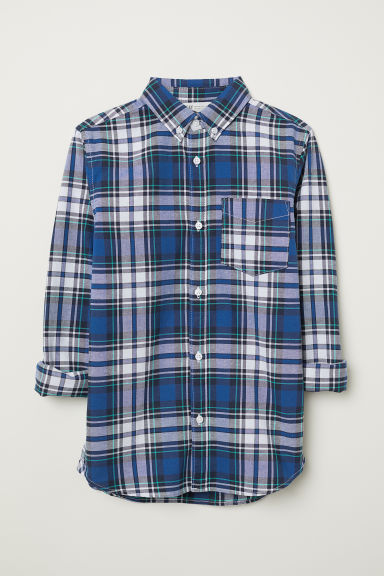 Cotton shirt - Blue/Checked - Kids | H&M