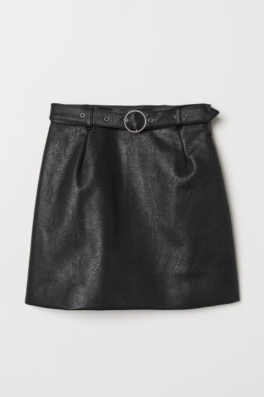 Skirt with Belt - Black -  | H&M US