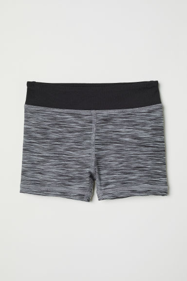 Short sports tights - Dark grey marl - Kids | H&M