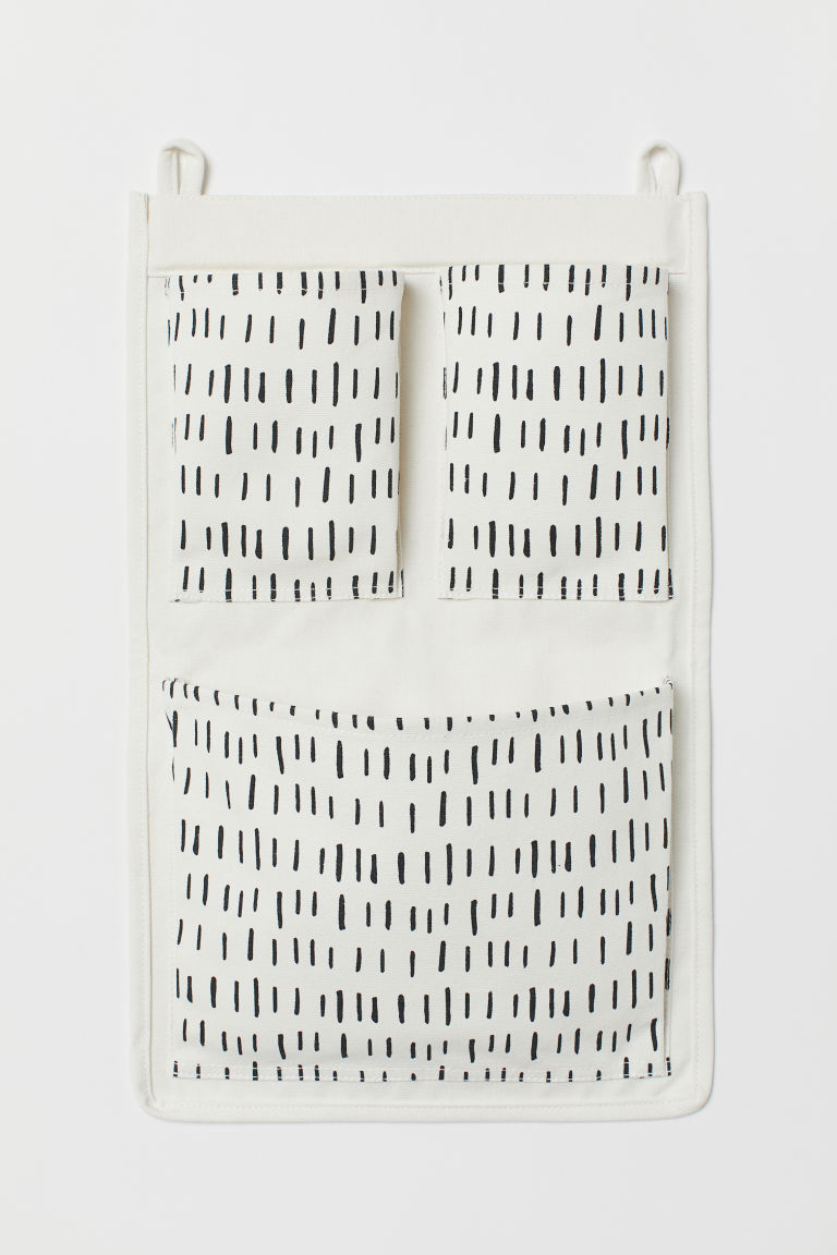 Wall tidy - White/Black patterned - Home All | H&M CN
