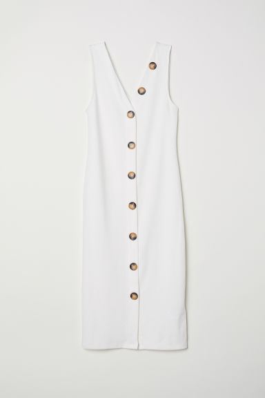 Bodycon dress - White - Ladies | H&M CN
