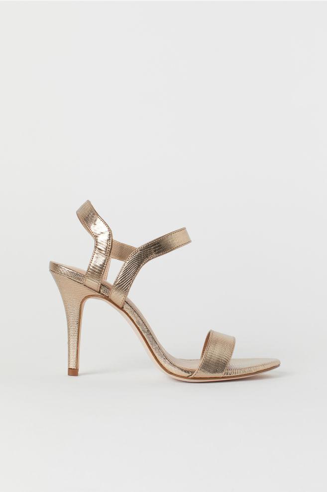 4b365b69d Sandálias douradas - Dourado - SENHORA | H&M ...