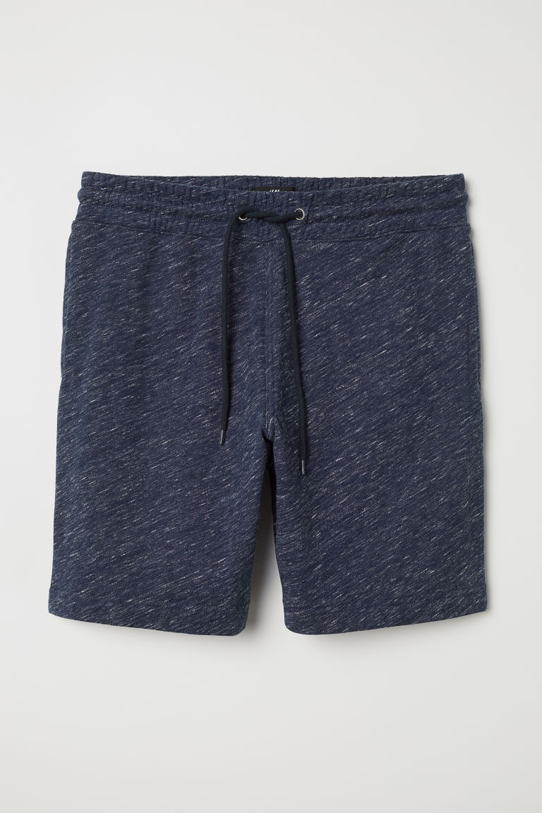 Sweatshirt shorts - Dark blue marl - Men | H&M CN