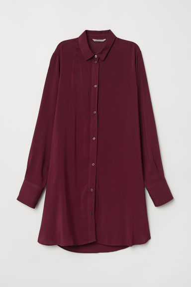 H&M+ Tunic - Burgundy - Ladies | H&M