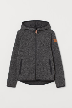 Gebreid fleece vest