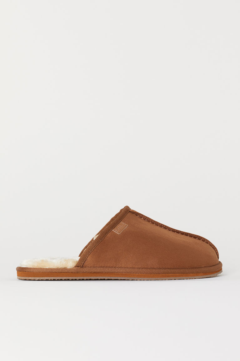 Pile-lined slippers - Camel - Men | H&M