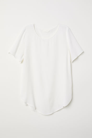 Crêpe top - White - Ladies | H&M