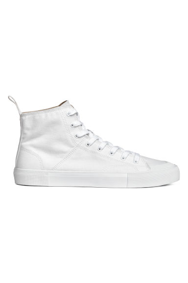 Cotton canvas hi-tops - White -  | H&M CN