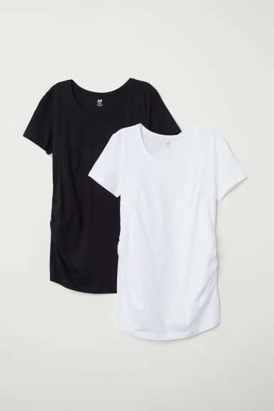 MAMA Set van 2 tops - Wit/zwart - DAMES | H&M BE