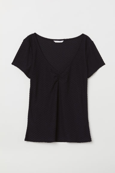 Plumeti top - Black - Ladies | H&M CN