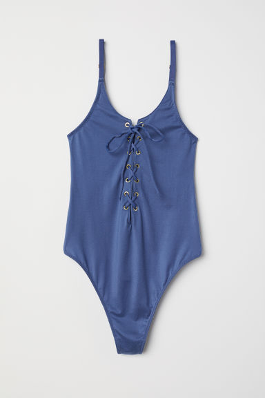 Body with lacing - Grey-blue - Ladies | H&M CN