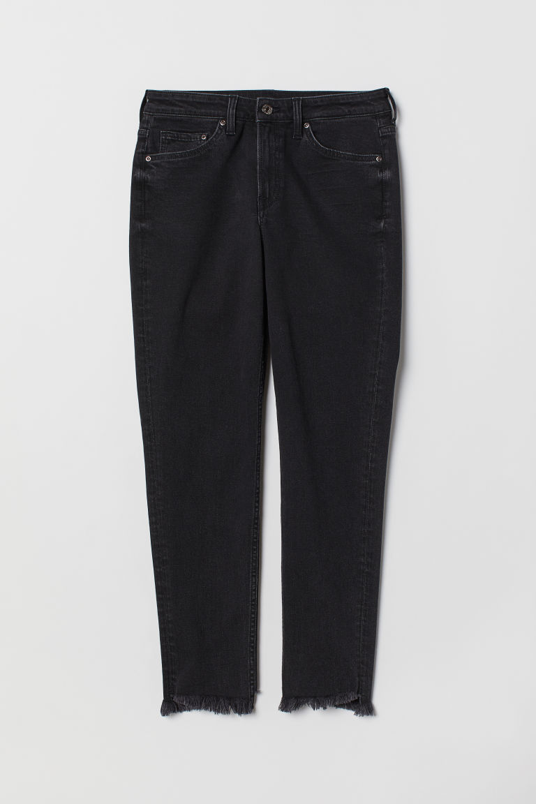 Girlfriend Regular Jeans - 黑色水洗 -  | H&M CN