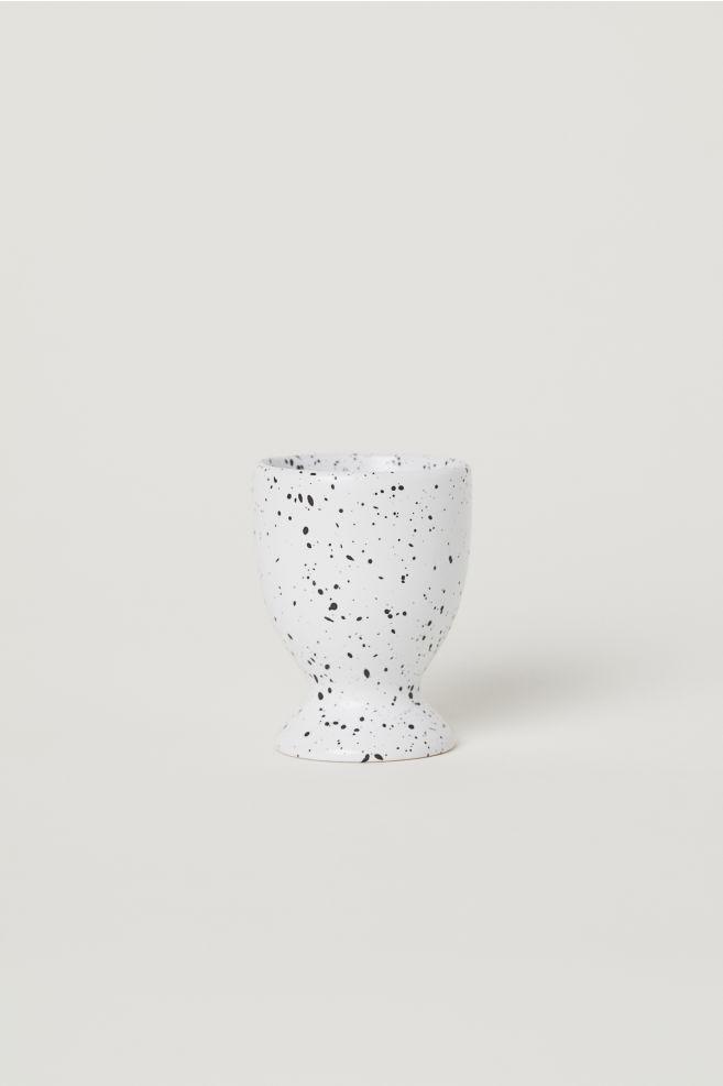 El Boyama Stoneware Yumurtalık Natürel Beyazpuantiyeli Home All