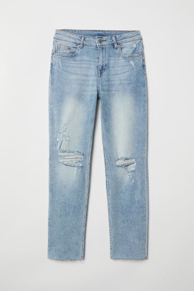 Girlfriend Regular Jeans - Light denim blue -  | H&M CN