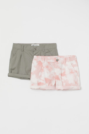 2-pack cotton shorts