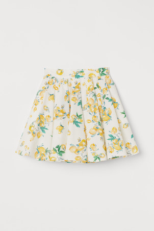 Bell-shaped cotton skirt