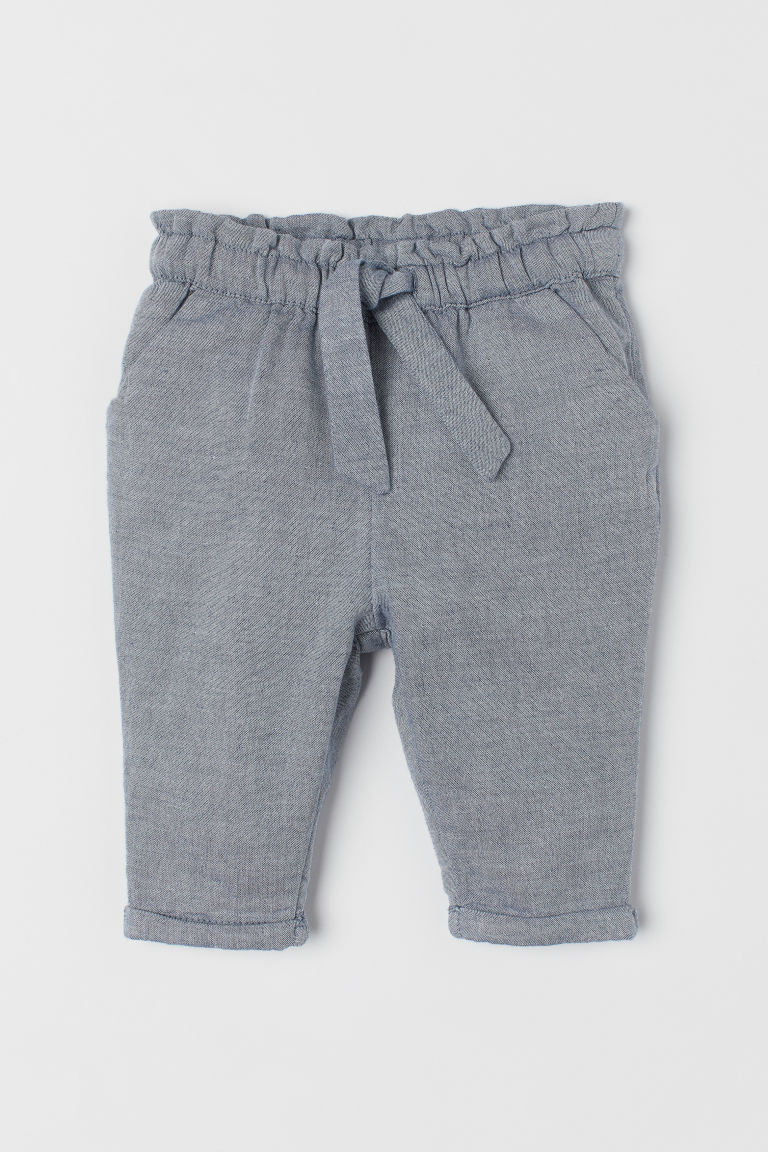 Trousers with turn-ups - Blue-grey/Chambray - Kids | H&M