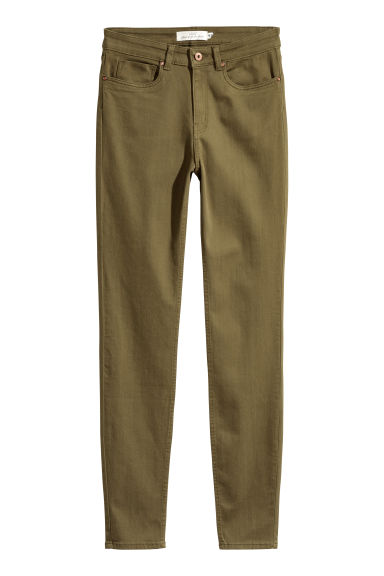 Superstretch trousers - Khaki green -  | H&M CN