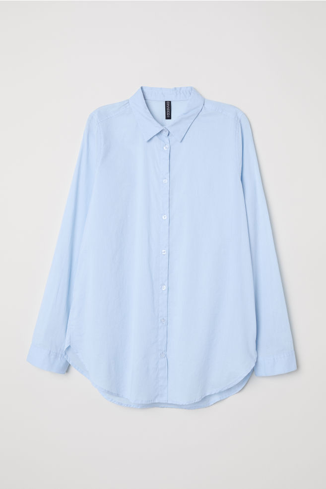 1432010c3e00 Cotton Shirt - Light blue -   H&M ...