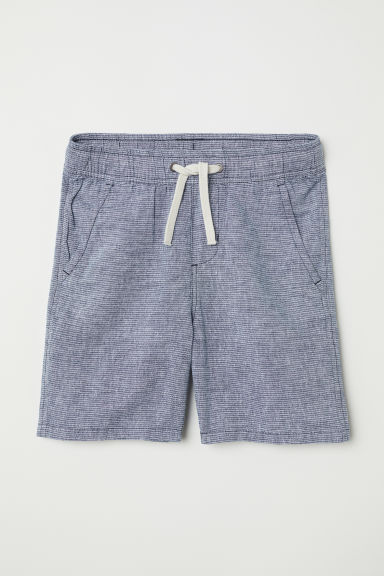 Elasticated shorts - Blue/Striped - Kids | H&M CN